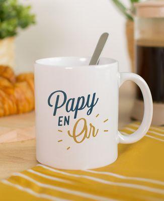 Mug Papy en or
