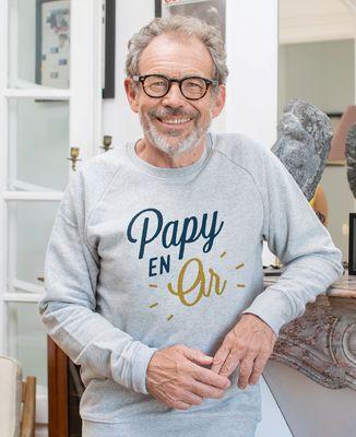 Sweatshirt homme Papy en or