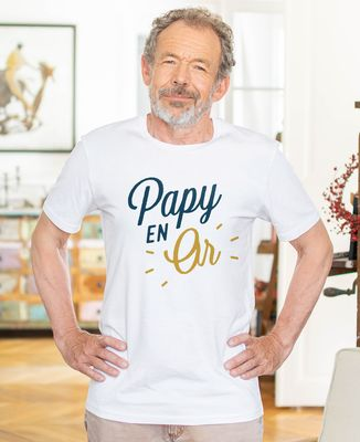 T-Shirt homme Papy en or