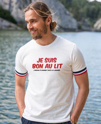 T-shirt homme recyclé Filgood Je suis bon au lit