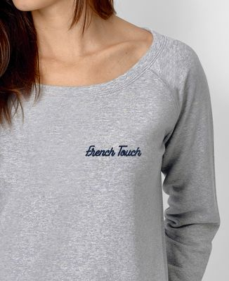 Sweatshirt femme French Touch brodé