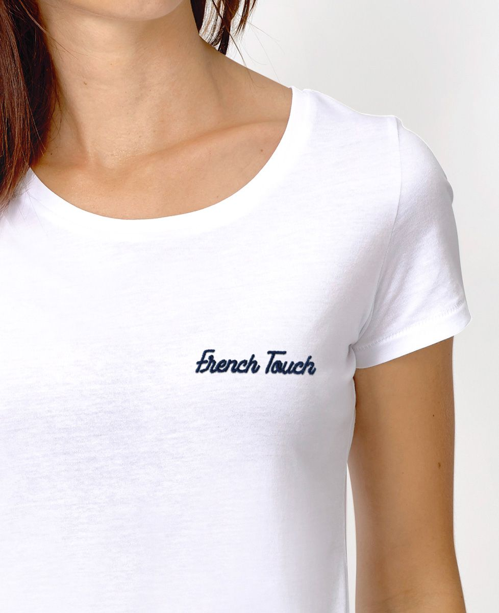 T-Shirt femme French Touch brodé