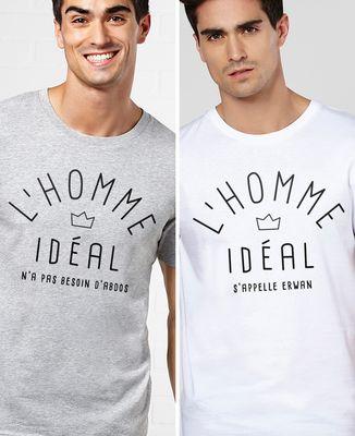 T-Shirt homme L'homme idéal personnalisé