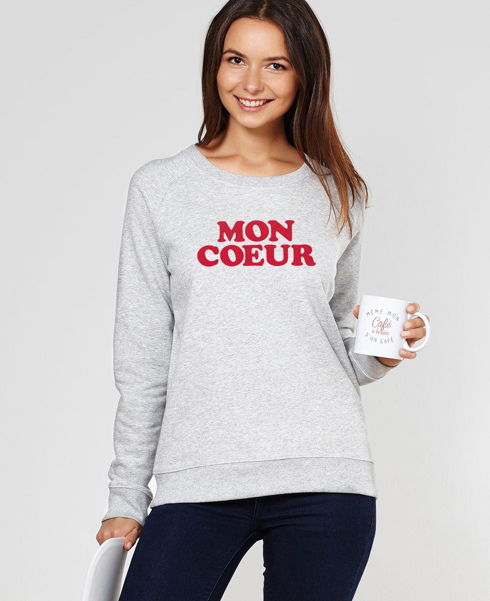 Sweatshirt femme Mon coeur