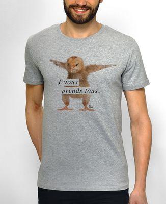 T-Shirt homme J'vous prend tous