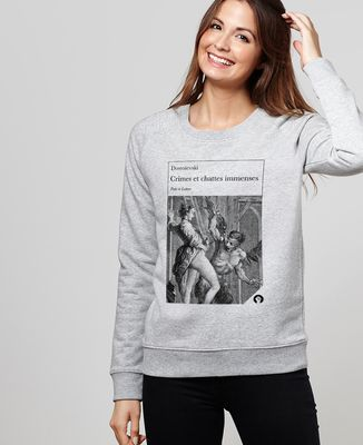 Sweatshirt femme Crimes et chattes immenses