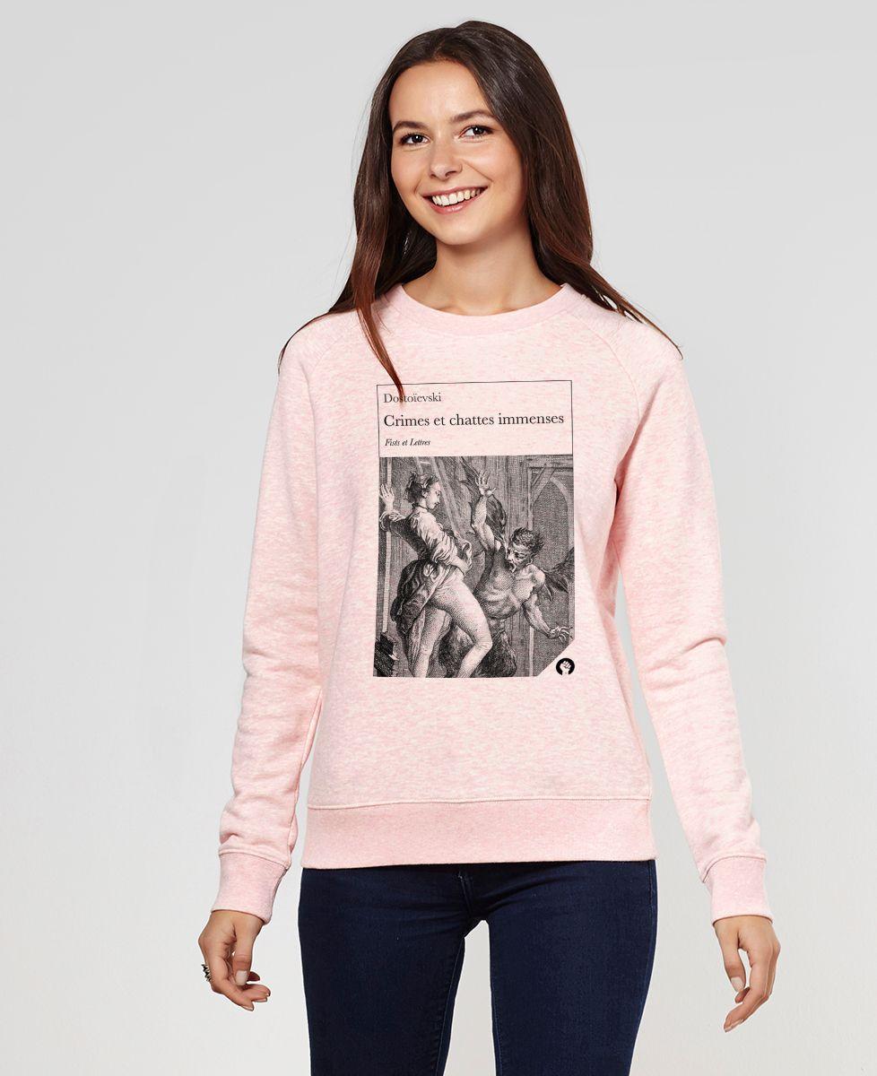 Sweatshirt femme Crimes et chattes immenses