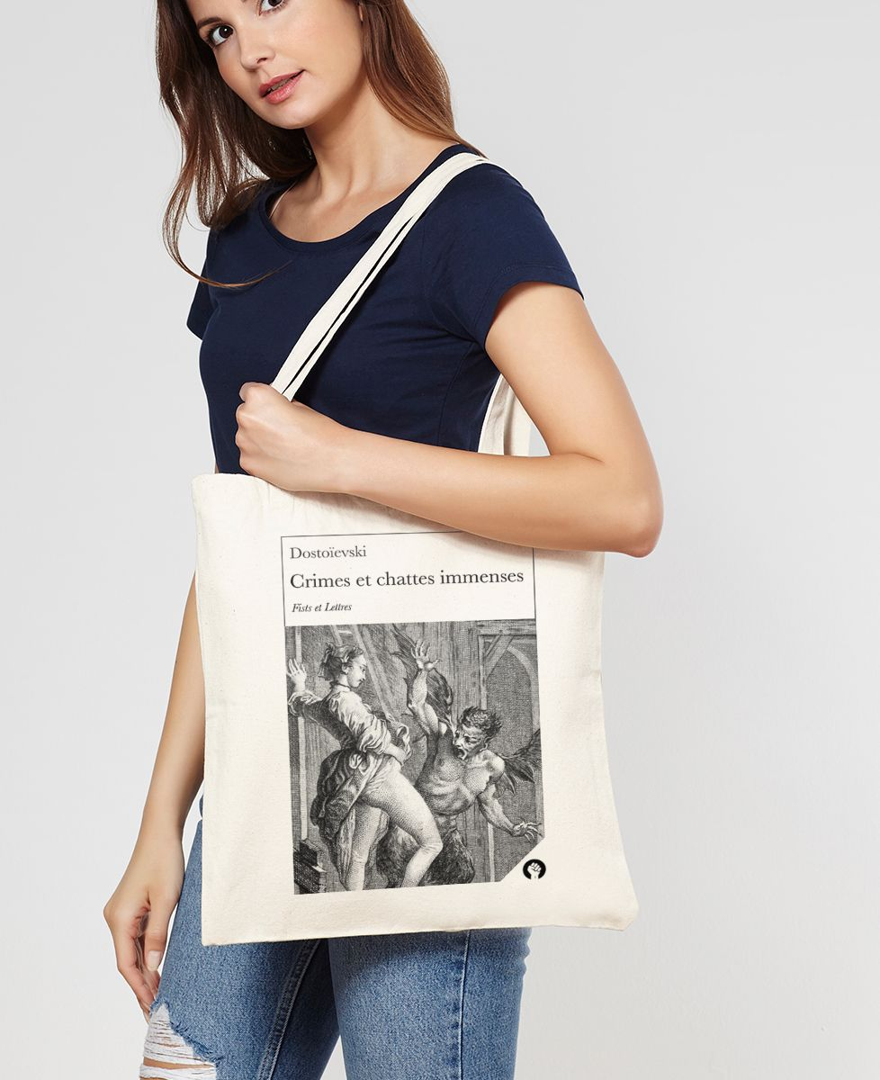 Tote bag Crimes et chattes immenses