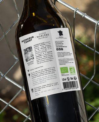 Bouteille de vin Texte personnalisé