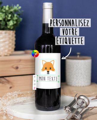 Bouteille de vin Imprimé personnalisé
