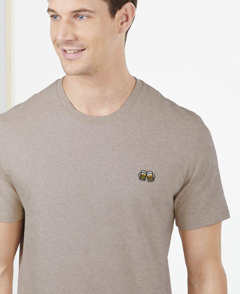 T-Shirt homme Pintes de bière (brodé)