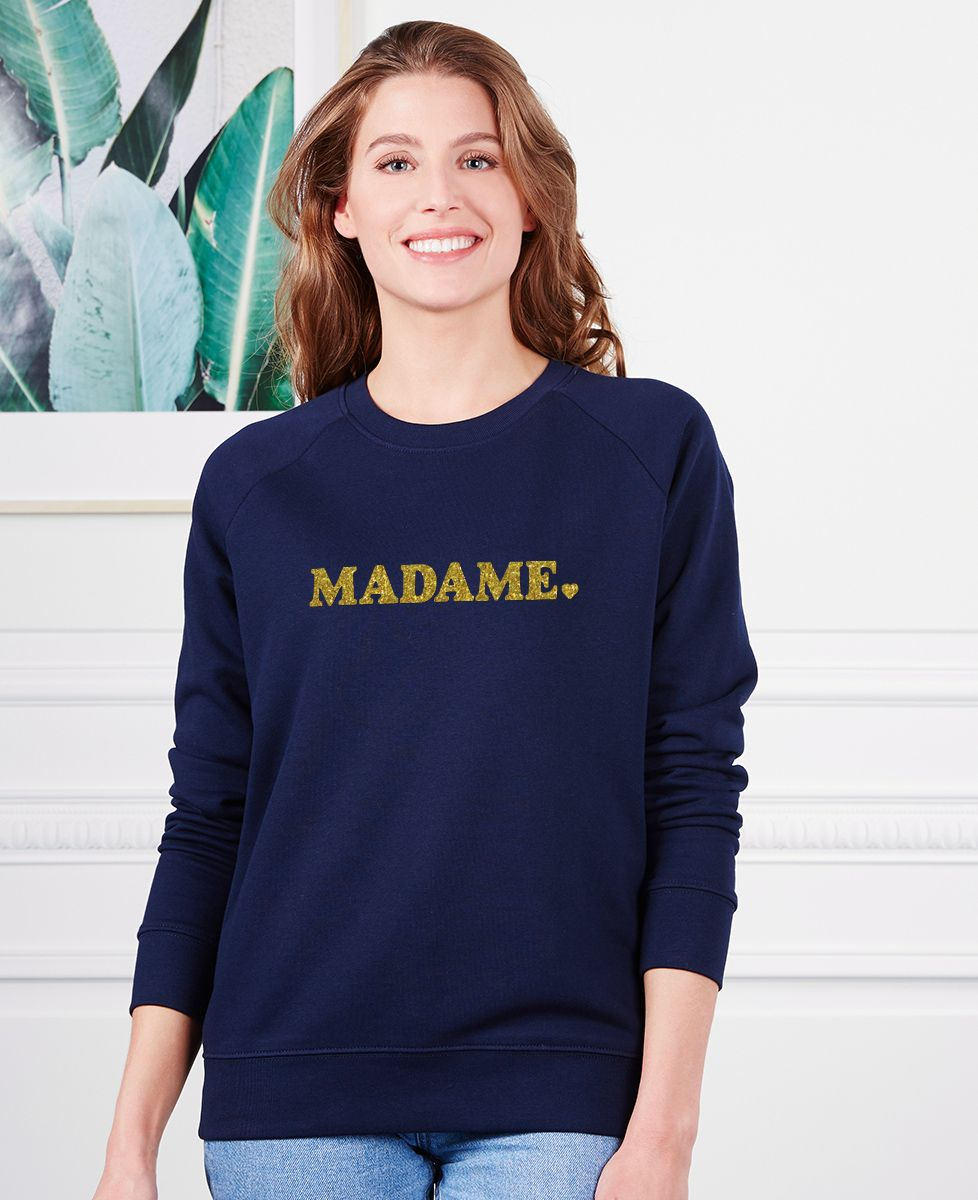 Sweatshirt femme Madame (effet pailettes)