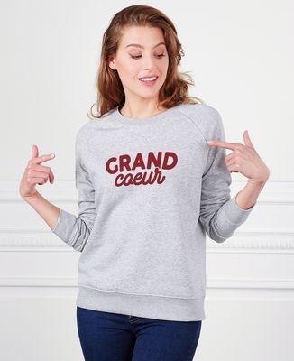 Sweatshirt femme Grand coeur / Petit coeur