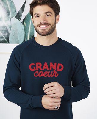 Sweatshirt homme Grand coeur / Petit coeur