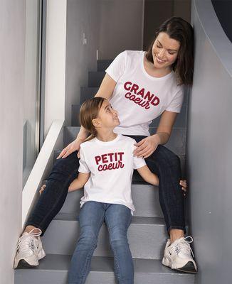 T-Shirt femme Grand coeur / Petit coeur