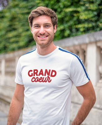 T-shirt homme recyclé Filgood Grand coeur / Petit coeur