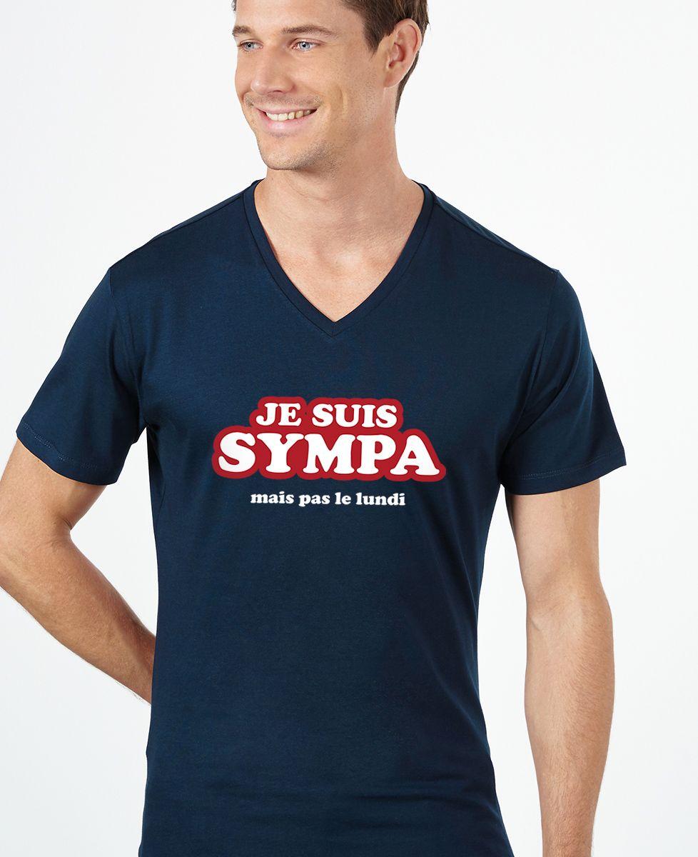 T-Shirt homme Je suis sympa (mais pas le lundi)