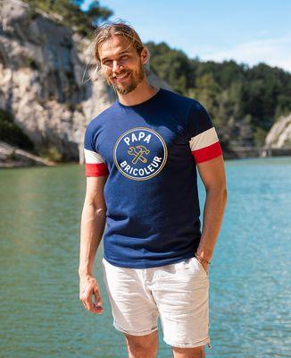 T-shirt homme recyclé Filgood Papa bricoleur/Bébé démolisseur