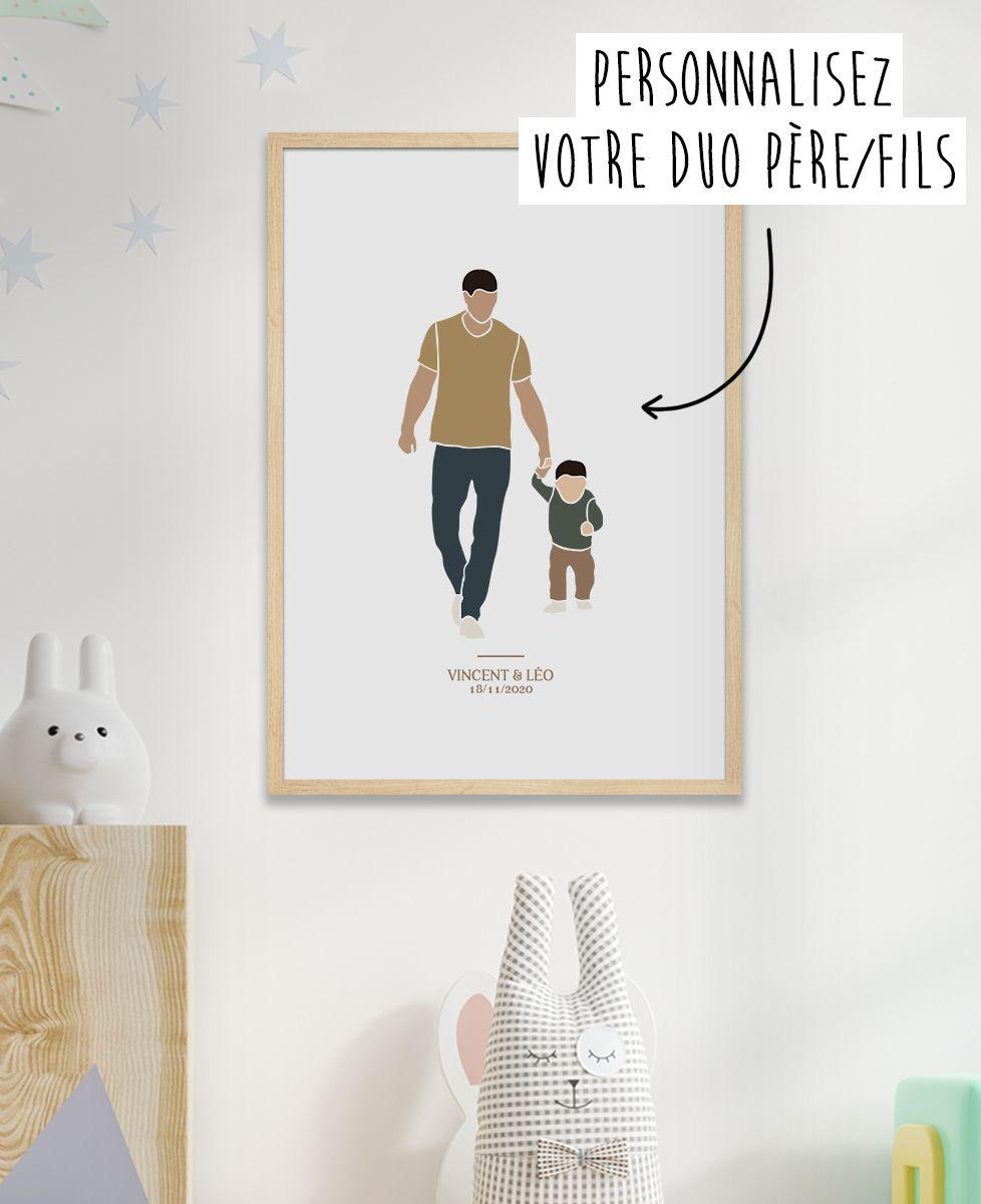 Affiche Duo père et fils personnalisé