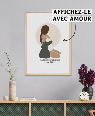 Affiche Femme enceinte personnalisé