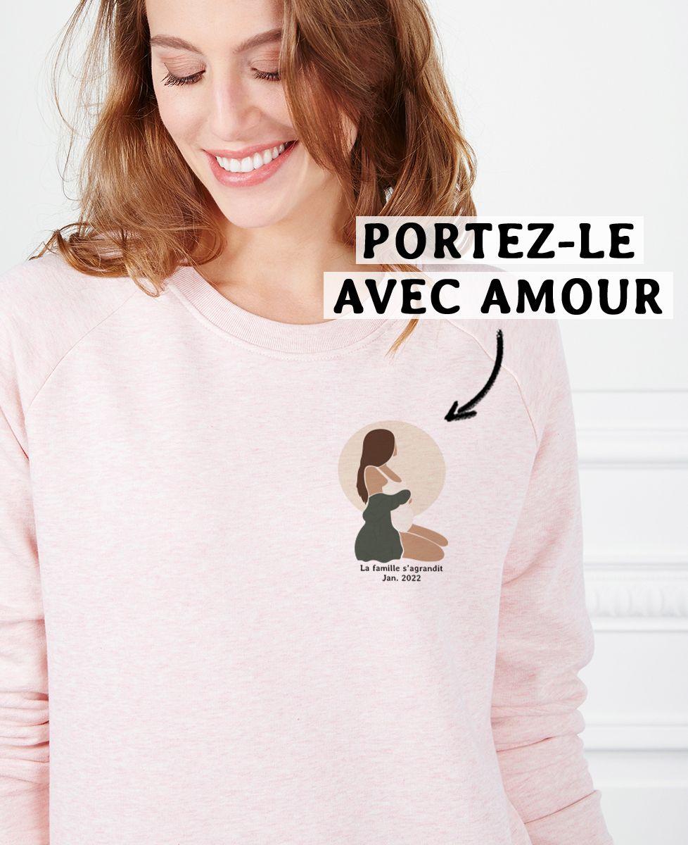 Sweatshirt femme Femme enceinte personnalisé