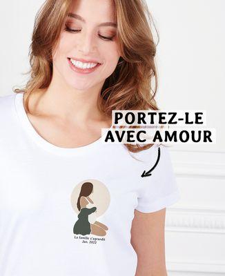 T-Shirt femme Femme enceinte personnalisé