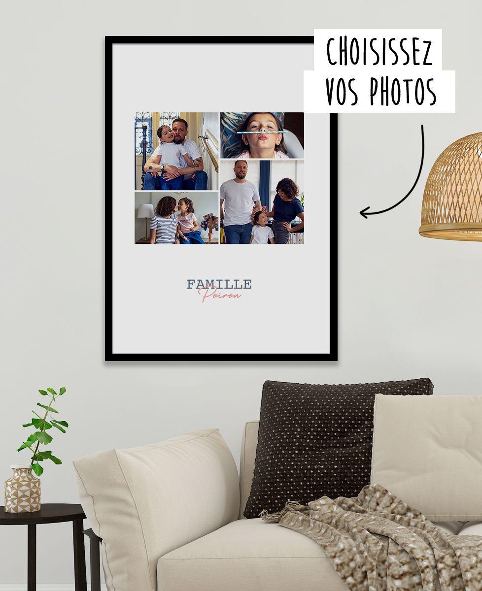 Affiche 4 photos personnalisé