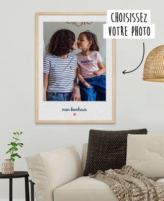 Affiche Photo avec texte et coeur personnalisé