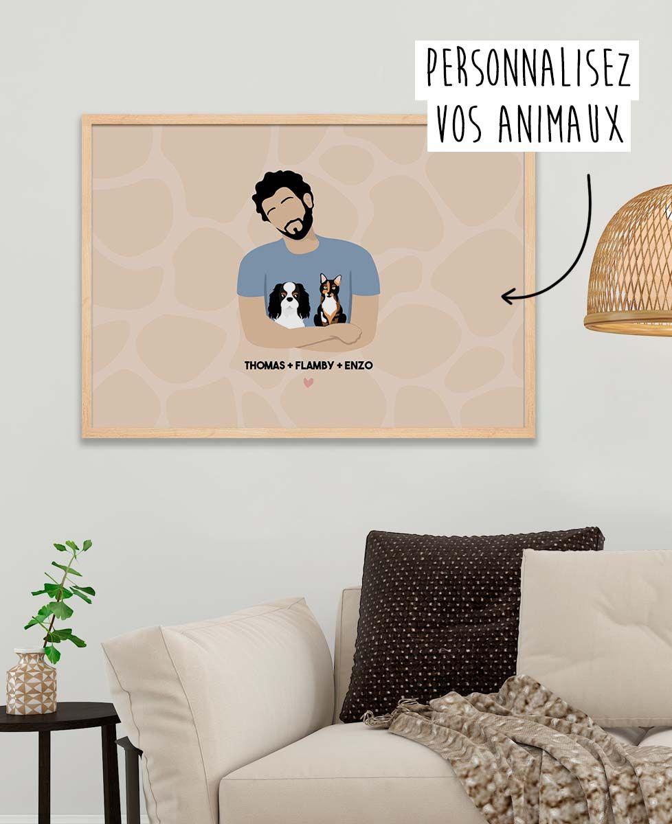 Affiche Mes animaux personnalisé