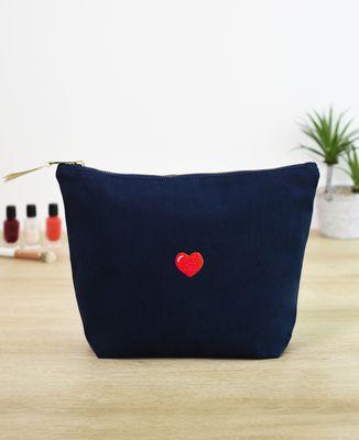 Trousse Coeur (brodé)