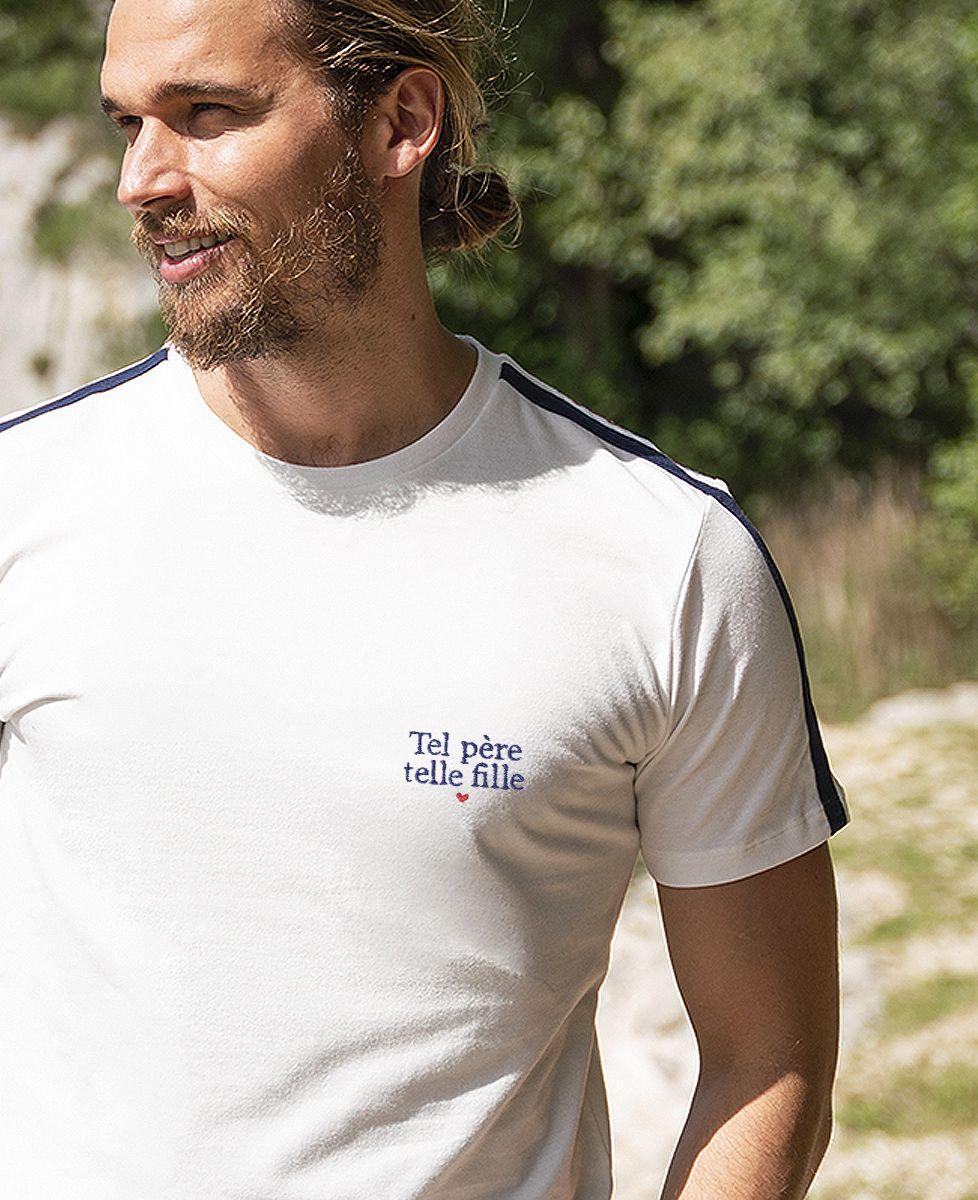 T-shirt homme recyclé Filgood Filgood Tel père tel fille (brodé)