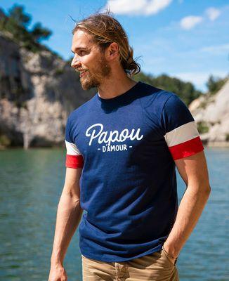 T-shirt homme recyclé Filgood Papou d'amour