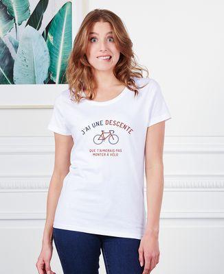 T-Shirt femme Descente à vélo