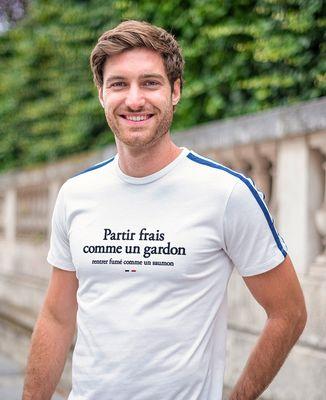 T-shirt homme recyclé Filgood Partir frais comme un gardon