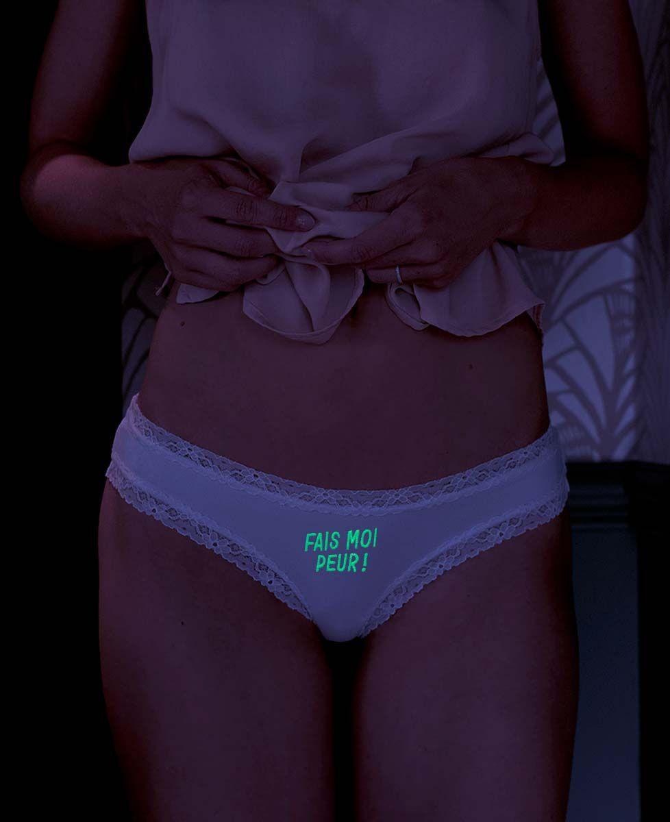 Culotte Fais moi peur (phosphorescent)