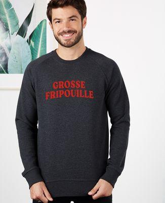 Sweatshirt homme Grosse fripouille (effet velours)