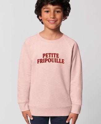Sweatshirt enfant Petite fripouille (effet velours)