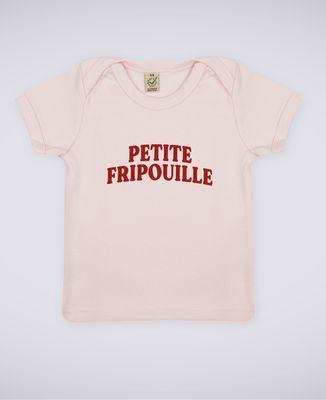 T-Shirt bébé Petite fripouille (effet velours)