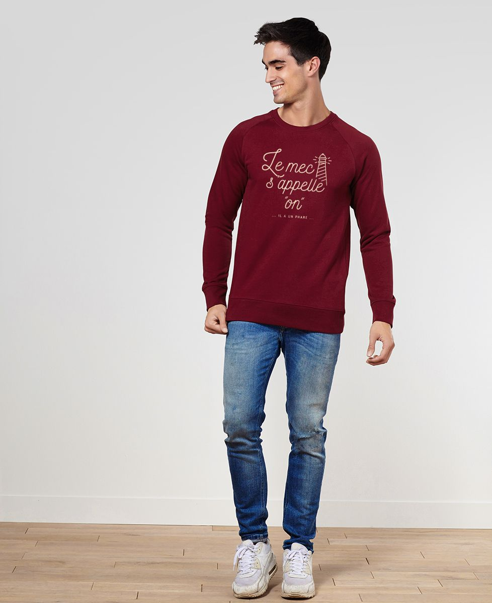 Sweatshirt homme Le mec s'appelle On