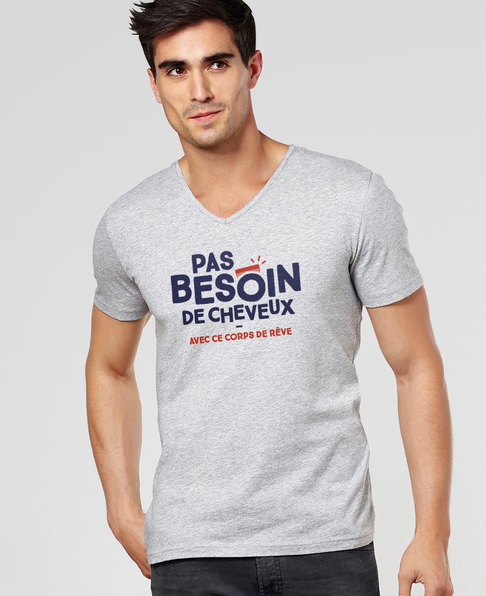 T-Shirt homme Pas besoin de cheveux