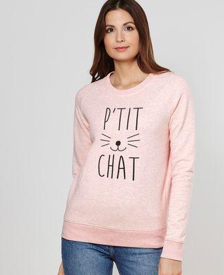 Sweatshirt femme P'tit chat