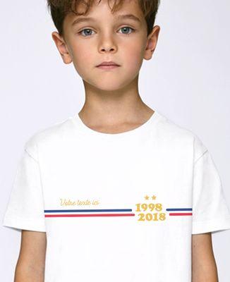 T-Shirt enfant Supporter France personnalisé