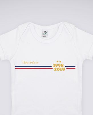 T-Shirt bébé Supporter France personnalisé