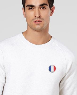 Sweatshirt homme Écusson France