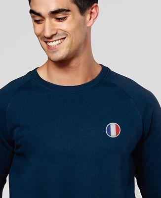 Sweatshirt homme Écusson France