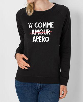 Sweatshirt femme A comme apéro