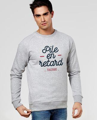 Sweatshirt homme Pile en retard