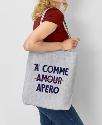 Tote bag A comme apéro