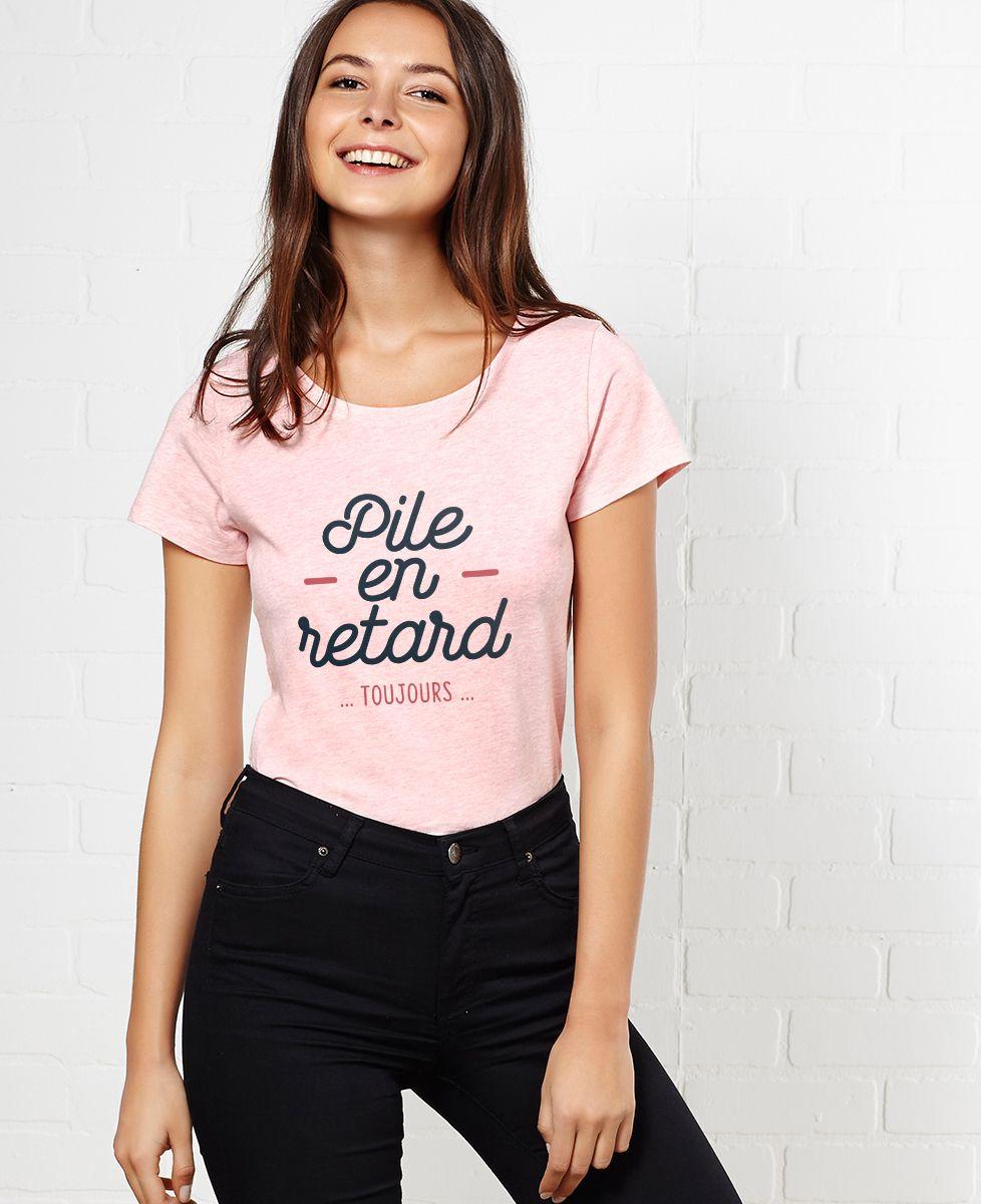 T-Shirt femme Pile en retard