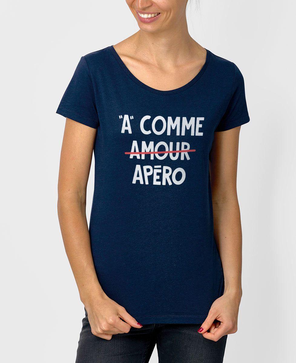 T-Shirt femme A comme apéro